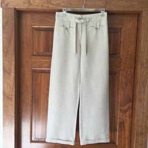 Petite linen pants
